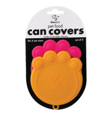 Orange & Pink Paw Can Cover Set