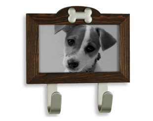 Rustic Photo Frame Leash Hook