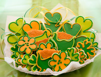 Premium St Patty's Day Sugar Cut-out Collection (24 Hand Decorated Cut Outs)