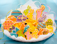 Premium Easter  Sugar Cut-out Collection (24 Hand Decorated Cut Outs)