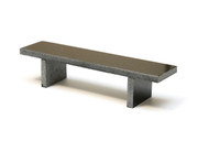 Flatface Black Granite Bench