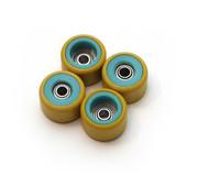 FlatFace Dual Durometer Bearing Wheels - Turquoise/Gold