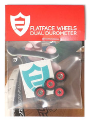 FlatFace x Oak Dual Durometer Bearing Wheels - Red/Black