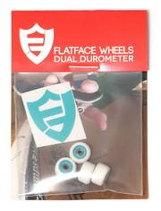 FlatFace x Oak Dual Durometer Bearing Wheels - Turquoise/White