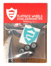 FlatFace x Oak Dual Durometer Bearing Wheels - White/Black