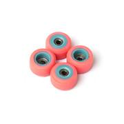 FlatFace x Oak Dual Durometer Bearing Wheels - Turquoise/Pink