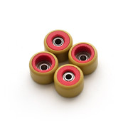 FlatFace Dual Durometer Bearing Wheels - Red/Gold