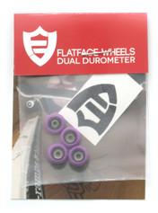 FlatFace x Oak Dual Durometer Bearing Wheels - Black/Purpil