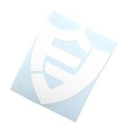 """FlatFace 2"""" White Vinyl Sticker"""