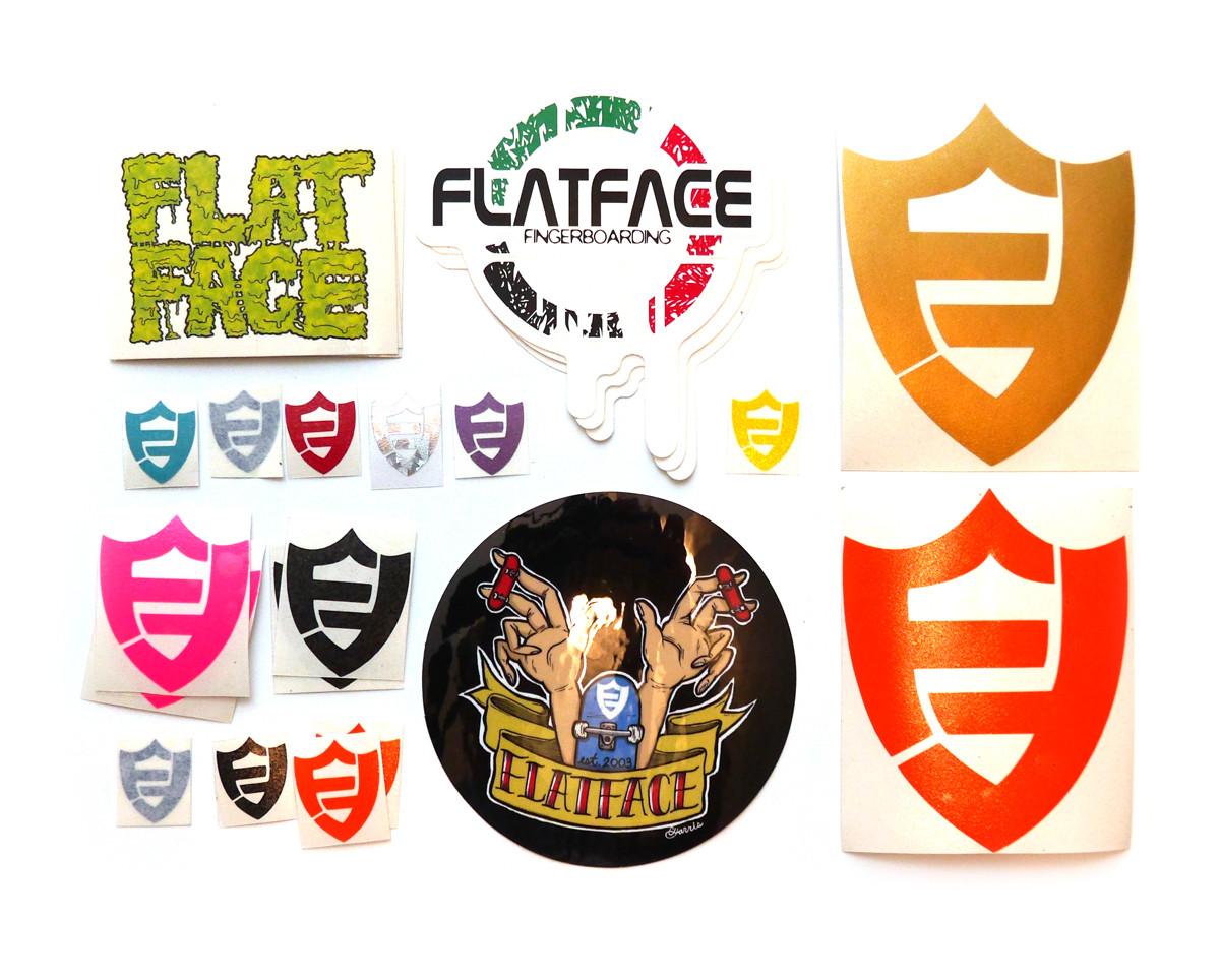 Flatface stickers