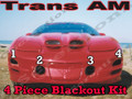 Trans Am Front Blackout kit