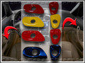 C6 Corvette Interior Colored Door Release Bezel Kit