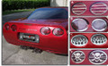 C5 Corvette Polished Taillight Grilles