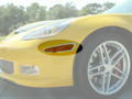 C6 Z06 Corvette 4-pc Stainless Side Marker Bezels