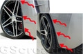 Genuine GM C6 Splash Guards, 2005+ Splash Guards