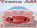 Trans Am Front Blackout kit (FOG LIGHT covers only)