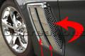 Grand Sport Corvette Laser Mesh Side Vent Grilles-6 Pcs