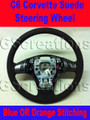 C6 Corvette Suede Steering Wheel Blue - Orange stitching