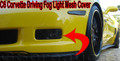 C6 Z06 ZR1 GS Corvette Driving Fog Light BLACK MESH Cover