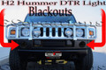 H2 Hummer DTR Day Time Running Lights Blackout Kit