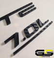 C6 Corvette LS7 Fuel Rail Cover Letter Insert Kit 3m CARBON FIBER Di-noc