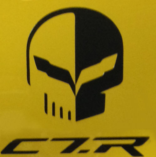 C7 Stingray Corvette Jake Racing Skull Vinyl Decal