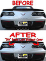 C7 Stingray Corvette SMOKED Blackout 5 Brake Light Cover W/ Z51 Spoiler