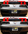 C7 Corvette Rear REVERSE Lights ONLY Blackout lens Kit (Smoked Covers)