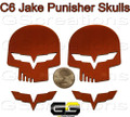 C6 Corvette Racing Jake Punisher Skull Emblem Custom Painted ALL Body Colors