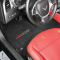 2015+ CORVETTE C7 STINGRAY LLOYDS FLOOR MATS W/ SILVER & RED Z06 LOGO