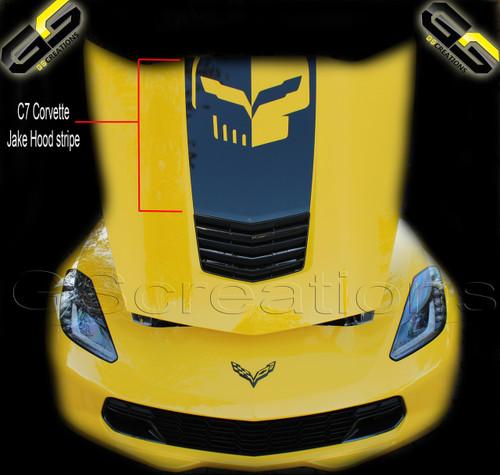 C7 Corvette Stingray Z06 Grand Sport Hood Vinyl Graphic