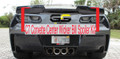 C7 Stingray Stage 3 Z06 Corvette Clear Center Wicker Bill Spoiler Kit