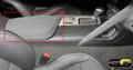 C7 Stingray Z06 Grand Sport Corvette Suede Black Armrest w/ White Stitching