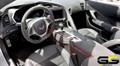 C7 Stingray Z06 Grand Sport Corvette Black  Suede Console Trim Panel  w/ White Stitching
