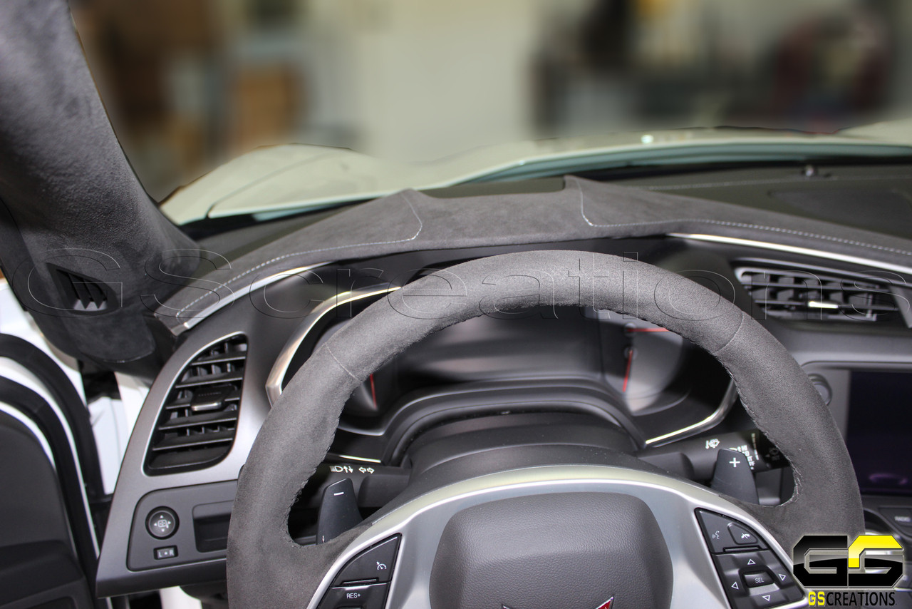 C7 Stingray Z06 Grand Sport Corvette Black Suede