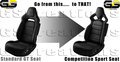 C7 Stringray Corvette Standard GT to Competition Seat Conversion