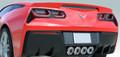 Corvette C7 Stingray Z06 Grand Sport Rear Diffuser Carbon Flash Fins