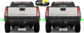 H3T Hummer Rear Bumper Blackout Kit