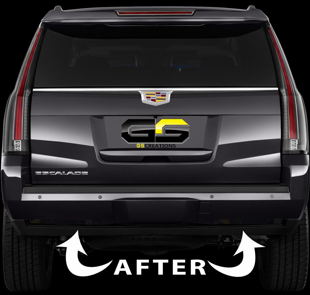 6Th Gen Camaro >> 2015 - 2018 Cadillac Escalade Rear Bumper Reflector Blackout Lens Cover Kit - GScreations