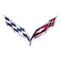 2014 + Corvette C7 Wall Emblem Metal Sign Art