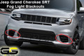 Jeep Grand Cherokee SRT Front Fog Light Blackout Lens Covers 2017-2018