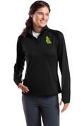 Ladies Lynden Applique SportWick Stretch Half-Zip Pullover