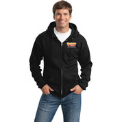Westside Pizza Zip Up Sweatshirt with Sleeve Print