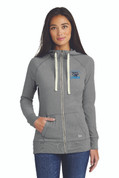 LC Ladies Sueded Cotton Full Zip Sweatshirt, Logo B