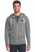 LC Mens Sueded Cotton Full Zip Sweatshirt, Logo A