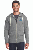 LC Mens Sueded Cotton Full Zip Sweatshirt, Logo B