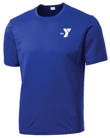 YMCA Tech T-shirt, Royal Blue - Front