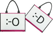 Unplugged Laptotes Laptop Shoulder Tote Emoticon Bag - Hey! / What?