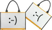 Unplugged Laptotes Laptop Shoulder Tote Emoticon Bag - Upper / Downer