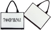 Unplugged Laptotes Laptop Shoulder Tote Emoticon Bag - Curses